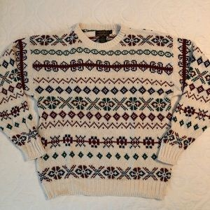 Vintage Eddie Bauer 100% Cotton Sweater